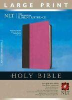 Holy Bible : New Living Translation, Pink/Brown, Leatherlike, Premium Slimlin...