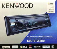 NEW KENWOOD KDC-BT958HD Single DIN Bluetooth CD/USB/MP3 Receiver w/ HD Radio