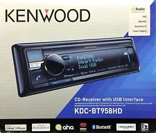 NEW KENWOOD KDC-BT958HD Single DIN Bluetooth CD/USB/MP3 Receiver w/ HD Radio