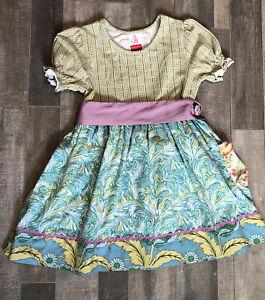 Matilda Jane Serendipity Maybeline Dress Silk Ribbon Girls Size 4 EUC