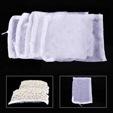5 PCS Nylon Aquarium Fish Tank Pond Filter Media Zip Mesh Net Bag Zipper White