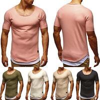 Hombre Informal Verano Sólido Manga Corta Muscle Slim Fit Camiseta Suéter Blusa
