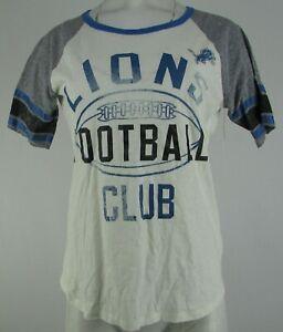Detroit Lions NFL G-III Women's Crew-Neck Short Sleeve Shirt