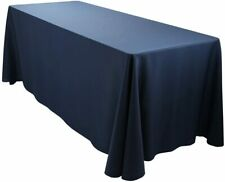 Oblong-TableCloth Navy Blue 90 X 156 inch Rectangle for 8 ft Table NEW by E-Tex