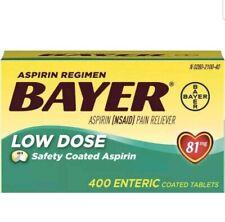 Bayer Low Dose Aspirin Regimen 400 Tablets 81 mg enteric coated