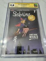 Sabrina: the Teenage Witch v4 #1 CGC 9.8 Signed by Peach Momoko Variant LTD 300