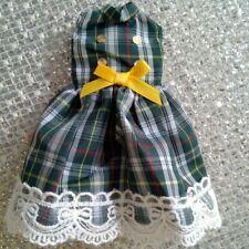 Blythe Doll / 1/6 Bjd Green Plaid Sleeveless Dress