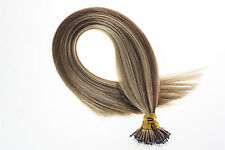 Double Drawn 7a Remy Human Hair Extensions Nano Ring Bead Tip Loop Hair 1g/s 50S