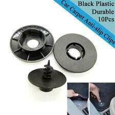 10x Car SUV Floor Mat Carpet Fastener Anti-slip Fixing Rivet Clip Black Plastic