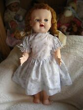 "Vintage Pedigree walking doll. 21-22"" tall. Lovely pigtails. Looks original wig."