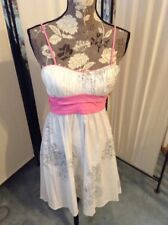b6e96a039e5b Women's Trixxi Strapless Fomal Sun Floral Party Dress Size 9 White & Pink