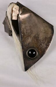 Cherokee Jeff Storey J. Pinkeye Sterling Silver Onyx Spirit Watcher Stick Pin