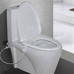 Non-Electric Bidet Spray Cold Water Bathroom Toilet Seat Attachment Wash Cleaner