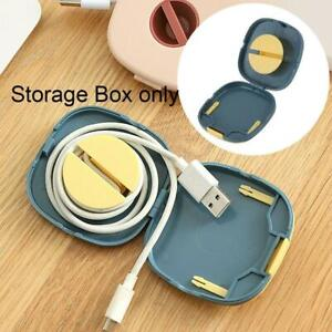 Organizer Cord Cable Storage Box Portable Rotatable Wire  For Charging Data Line