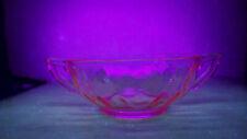 Vintage Pink Vaseline Depression Glass Bowl Candy Dish Glows