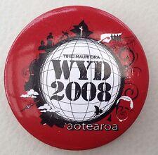 World Youth Day WYD 2008 Aotearoa NZ Badge / Pin - 4.3cm diameter