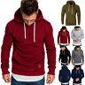 Men's Warm Winter Hoodies Slim Fit Hooded Sweatshirt Outwear Sweater Jacket Coat