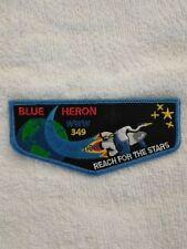 OA 349 BLUE HERON LODGE FLAP REACH FOR THE STARS BLUE BORDER