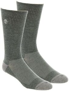 Timberland Men's 245360 2-Pair Pack Coolmax Crew Cut Socks Size L