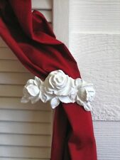 Shabby n Chic Rose Curtain tie back* EBAY'S LARGEST FURNITURE APPLIQUE STORE!