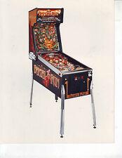 BANZAI RUN By WILLIAMS 1988  ORIGINAL PINBALL MACHINE NOS COLOR PROMO PHOTO #1