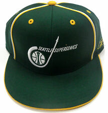 NBA Seattle Supersonics Reebok Fitted Vintage Throwback Hardwood Classic Cap Hat