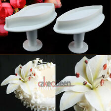 2PCS Calla Lily Flower Fondant Cake Cutter Mould Gum Paste Sugarcraft Decorating