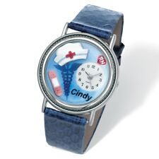 "PERSONALIZED NURSE 7"" WATCH FREE ENGRAVING AND WORLDWIDE SHIPPING"