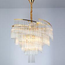 Elegant Crystal Chandelier Modern Metal Ceiling Light Lamp Pendant Fixture Light