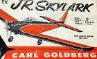 Goldberg JR SKYLARK RC PLAN to SCRATCH-BUILD a Single or Twin RC Model Airplane
