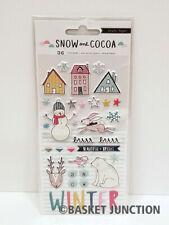 Crate Paper Snow and Cocoa Stickers (Puffy)