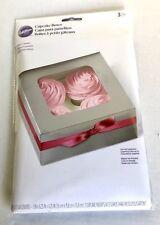 Wilton Cupcake Box 1 Pack Of 3 Fits 4 Cupcakes Per Box New
