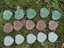 "Cement Leaf Lot 15pc Fairy 1 1/2"" Step Concrete Garden Accent Craft   3 Colors"