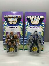 Masters Of The WWE Universe UNDERTAKER THE ROCK Lot Unpunched NEW GLOW MOTU NEW