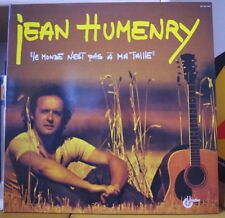 "JEAN HUMENRY/DYLAN  ""LE MONDE N'EST PAS A MA TAILLE"" FRENCH LP UNIDISC 1980"