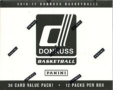 2016-17 Donruss Basketball NBA Trading Cards New 12pk Retail Fat Pack Box