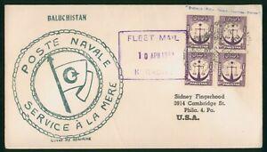 Mayfairstamps Pakistan 1950s Baluchistan Fleet Mail Naval Cover wwp73459