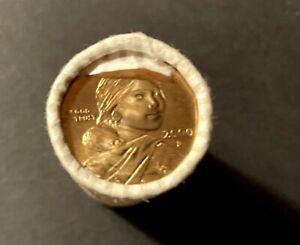 2000-P UNCIRCULATED SACAGAWEA GOLDEN DOLLAR COINS - ROLL OF 25