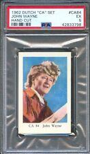 1962 Dutch Gum Card CA #84 JOHN WAYNE The Fighting Kentuckian Actor PSA 5