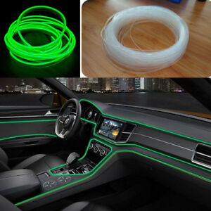 4M 12V 20W Fiber optic interior lights Green Driving Spot Beam Light Bar Lamp LJ