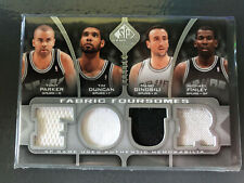 2009-10 SP Game Used Tim Duncan, Tony Parker, Manu Ginobli Jersey Relic /199