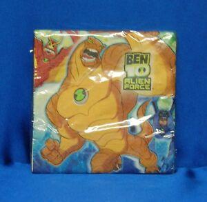 16 Ben 10 Alien Force Luncheon Napkins  Ben 10 Dinner Napkins