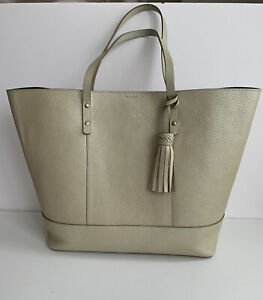 Cole Haan Bayleen Soft Gold Leather Shopper Tote Bag