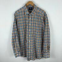 Charles Tyrwhitt Mens Button Up Shirt Size XL Multicoloured Long Sleeve Check
