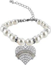 Cenwa Delta Sigma Theta Sorority Jewelry Rhinestone Delta Sigma (heart bracelet)