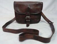 Brown Leather CrossBody Sling Bag Handbag Satchel Purse Case Messenger Bags 9 In