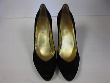 """Tahari """"Lolly"""" Black Stiletto Platform Suede Shoes Women's Size 10M"""