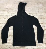 ARMANI EXCHANGE A/X JERSEY STYLE HENLEY HOODIE SHIRT Mens Size Small
