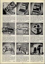 1954 PAPER AD Tru Matic Trumatic Ride On Bullsozer Tractor Keystone Locomotive