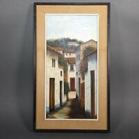 """Original Oil on Canvas Landscape Framed 14"""" x 24"""" Artist Signed -By  FR RASTIO"""
